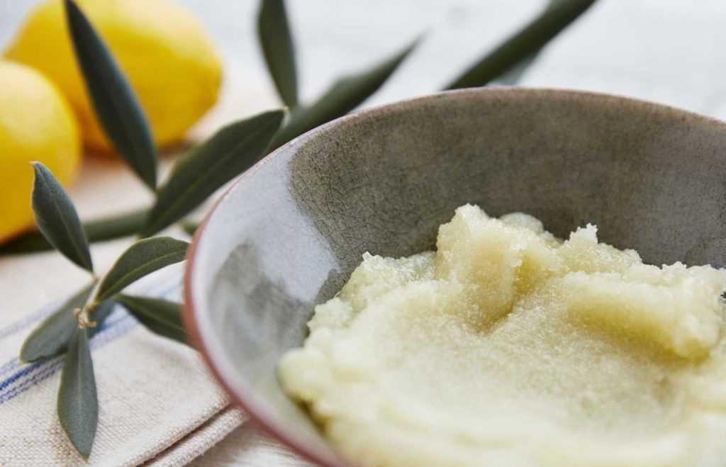 a close up shot of a spa scrub in a bowl