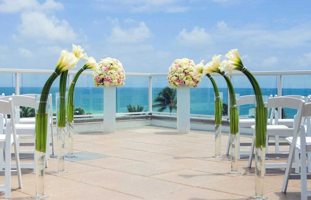 luxury beach wedding venue