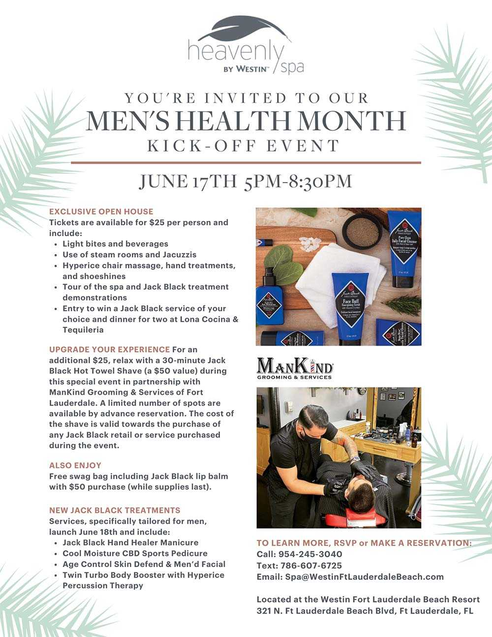 You're Invited to our Men's Health Month Kick Off Event on July 17th from 5:00pm to 8:30pm